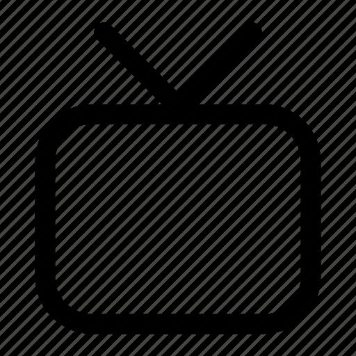 televisor, tv, tv-set icon