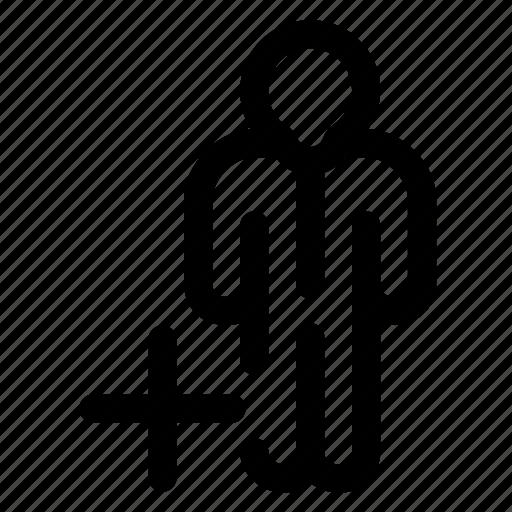 add, employee icon