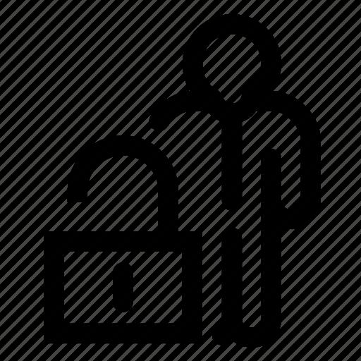 employee, unblock icon