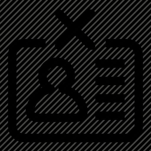 delete, id icon
