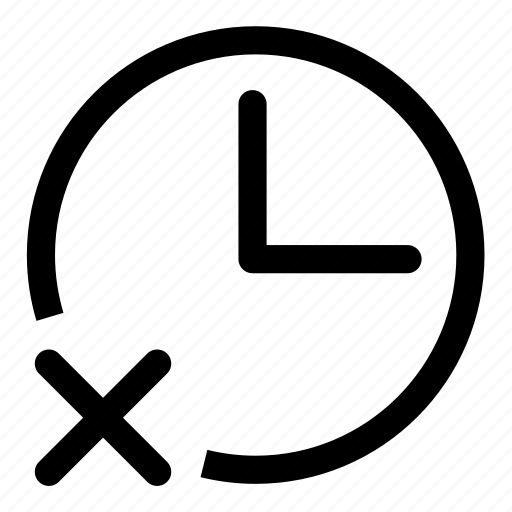 stop, time icon