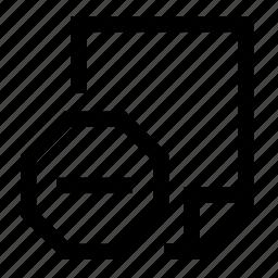 block, document icon