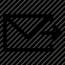foward, mail icon