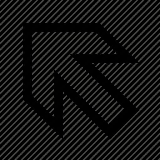 arrow, left-up icon