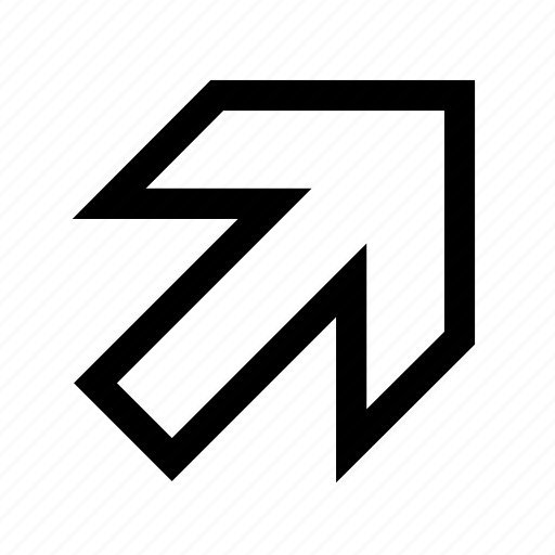 arrow, right-up icon
