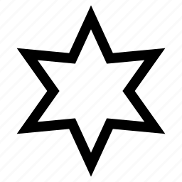 david, hexagonal, star icon