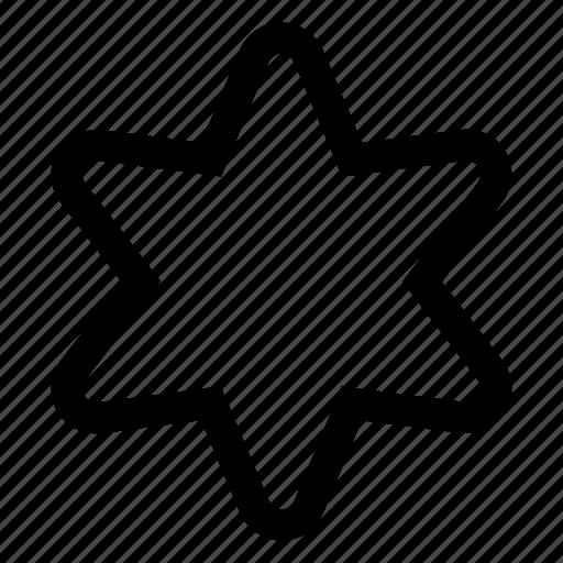 hexagonal, star icon