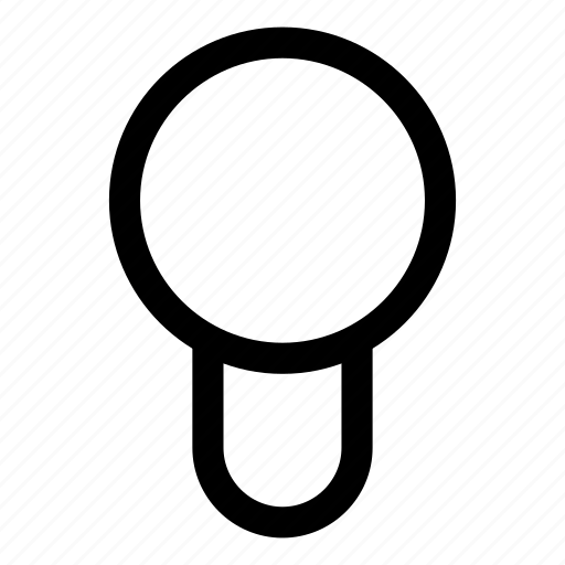 lamp, off icon