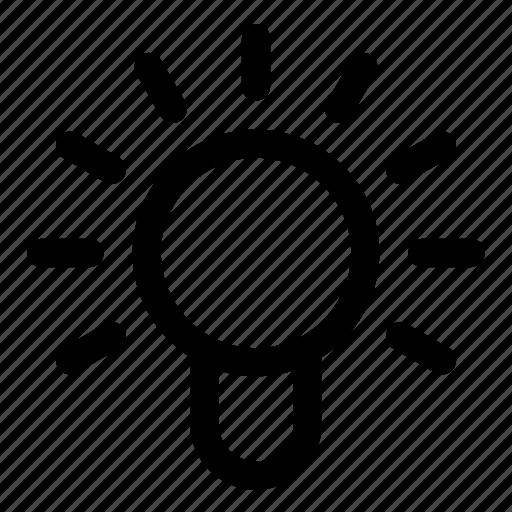 idea, lamp, on icon