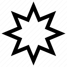 octagonal, star icon