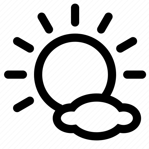 cloudy, day icon
