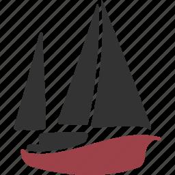 boat, lugger, pinnace, proa, sailboat, sailing, shallop, ship, vessel icon
