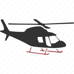 chopper, copter, gyroplane, helicopter, rotorcraft icon