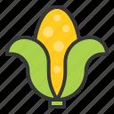 corn, food, healthy, vegan, vegetable, vegetarian icon
