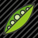 food, healthy, pea, vegan, vegetable, vegetarian icon