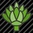 artichoke, food, healthy, vegan, vegetable, vegetarian icon