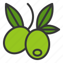 food, healthy, olive, vegan, vegetable, vegetarian icon