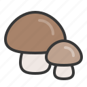food, healthy, mushroom, vegan, vegetable, vegetarian icon