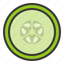 cucumber slice, food, healthy, vegan, vegetable, vegetarian icon