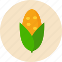 corn, food, food health, green, vegetable icon