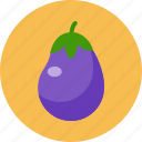eggplant, food, food health, green, vegetable icon