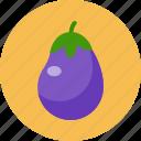 eggplant, food, food health, green, vegetable icon