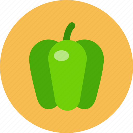 food, food health, green, pepper, vegetable icon