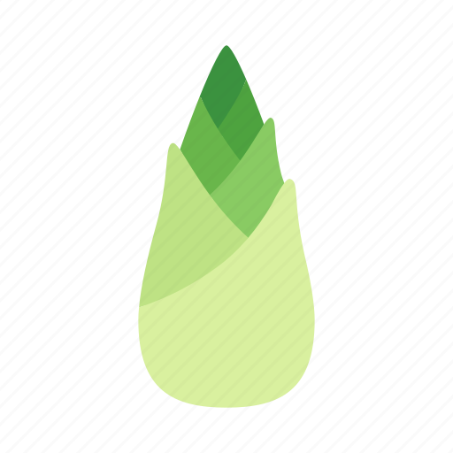 bamboo, colour, food, green, shoot, sprout, vegetable icon