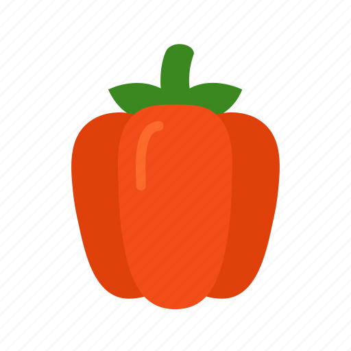 bell, colour, food, garden, pepper, red, vegetable icon