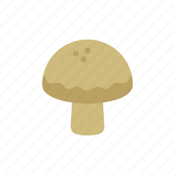 brown, colour, cooking, food, garden, mushroom, vegetable icon