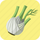 fennel, florence, healthy, meal, nutrition, vegetable, vegetarian icon