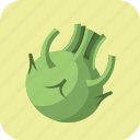 diet, food, healthy, kohlrabi, meal, nutrition, vegetarian icon