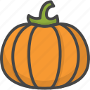 filled, food, outline, pumpkin, vegetable, vegetables icon