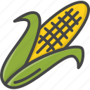 corn, filled, food, outline, vegetable, vegetables icon
