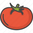filled, food, outline, tomato, vegetable, vegetables icon