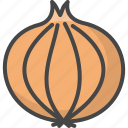 filled, food, onion, outline, vegetable, vegetables icon