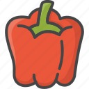 filled, food, outline, pepper, vegetable, vegetables icon