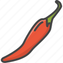 chili, filled, food, outline, pepper, vegetable, vegetables icon