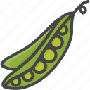 filled, food, outline, peas, vegetable, vegetables icon
