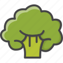 broccoli, filled, food, outline, vegetable, vegetables icon