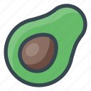 avocado, food, fruits icon