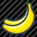 bananas, food, fruits icon