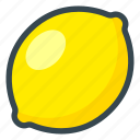 food, fruits, lemon icon
