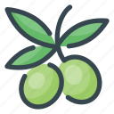 food, fruits, olives icon