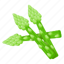 asparagus, healthy diet, natural food, organic vegetable, sparrow grass icon