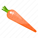 carrot, food, organic carrot, root vegetable, vegetable icon
