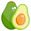 alligator pear, avocado, avocado pear, butter pear, fruit, pear icon