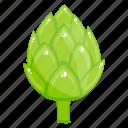 artichoke, healthy food, natural diet, organic food, ripe vegetable icon