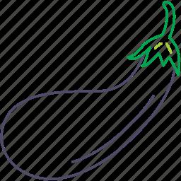 aubergine, aubergines, eggplant, eggplants, organic, vegetable icon