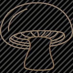 food, mushroom, mushrooms, organic, vegetable, vegetarian icon